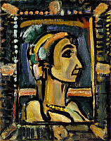 0104963 © Granger - Historical Picture ArchiveROUAULT: CIRCUS GIRL.   Oil on paper by Georges Rouault, c1938-1943. EDITORIAL USE ONLY.