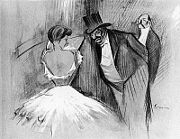 0133645 © Granger - Historical Picture ArchiveFORAIN: IN THE WINGS.   'In the Wings.' Drawing by Jean-Louis Forain, late 19th or early 20th century.