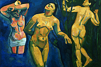 0162716 © Granger - Historical Picture ArchiveDERAIN: BATHERS, 1907.   Oil on canvas by André Derain, 1907.