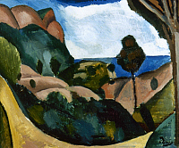 0162717 © Granger - Historical Picture ArchiveDERAIN: LANDSCAPE, c1910.   Landscape near Cassis. Oil on canvas by André Derain, c1910.