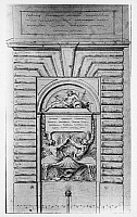 0162913 © Granger - Historical Picture ArchiveBOUCHARDON: FOUNTAIN DESIGN.   Design for a fountain by Edmé Bouchardon, 18th century.