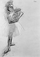0163292 © Granger - Historical Picture ArchiveDEGAS: BALLERINA.   A ballerina with fan. Pastel sketch by Edgar Degas, late 19th or early 20th century.