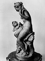 0163735 © Granger - Historical Picture ArchiveFALCONET: VENUS AND CUPID.   Venus and Cupid. Sculpture by Etienne Maurice Falconet, late 18th century.