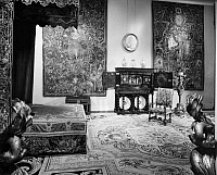 0260718 © Granger - Historical Picture ArchiveBEDROOM, 17th CENTURY.   French bedroom, late 17th century, as displayed at the Metropolitan Museum of Art. Photograph, mid or late 20th century.