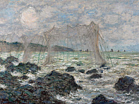 0433758 © Granger - Historical Picture ArchiveMONET: FISHING NETS, 1882.   'Fishing Nets at Pourville.' Oil on canvas, Claude Monet, 1882.