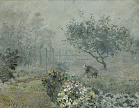 0468466 © Granger - Historical Picture ArchiveSISLEY: FOG, VOISINS, 1874.   Oil on canvas, Alfred Sisley, 1874.