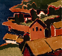 0018525 © Granger - Historical Picture ArchiveSCHMIDT-ROTTLUFF: COUNTRYSIDE, 1911.  Countryside at Lofthus. Oil by Karl Schmidt-Rottluff.