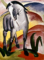 0022332 © Granger - Historical Picture ArchiveMARC: GREY HORSE, 1911.   'The Grey Horse I.' Painting by Franz Marc.