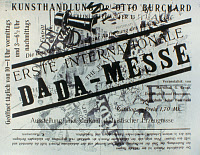 0032000 © Granger - Historical Picture ArchiveHEARTFIELD & GROSZ: DADA.   Cover of catalogue for First International Dada Exhibition, by John Heartfield and George Grosz, 1920.