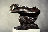 0053980 © Granger - Historical Picture ArchiveBARLACH: THE AVENGER, 1914.  Ernst Barlach: The Avenger. Bronze, 1914. RESTRICTED OUTSIDE US.