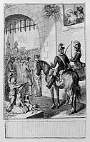 0131465 © Granger - Historical Picture ArchiveSOLDIERS AT THE GATE, 1784.   Soldiers entering a city.  Drawing, German, by Johan Heinrich Ramberg, 1784.