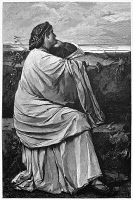 0353535 © Granger - Historical Picture ArchiveFEUERBACH: IPHIGENIA.   'Iphigenia in Tauris.' Engraving after the oil painting by Anselm Friedrich Feuerbach, 1870.