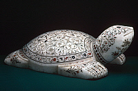 0105851 © Granger - Historical Picture ArchiveINDIA: ORNAMENT.   Carved marble turtle with inlaid color stones. Indian.