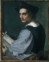 0019963 © Granger - Historical Picture ArchiveSARTO: YOUNG MAN.   'Portrait of a Young Man.' Oil on canvas by Andrea del Sarto, c1517. RESTRICTED OUTSIDE US.