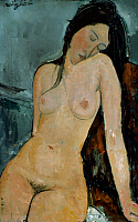 0020249 © Granger - Historical Picture ArchiveMODIGLIANI: NUDE, c1917.   Oil on canvas by Amedeo Modigliani, c1917.