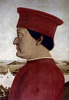 0021876 © Granger - Historical Picture ArchiveFEDERICO DA MONTEFELTRO (1422-1482).  Italian condottieri and Duke of Urbino. Tempera on panel by Piero della Francesca, c1465.