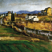 0023216 © Granger - Historical Picture ArchiveSOFFICI: HILL, 1922.   Hill at Caiano. Oil on canvas by Ardengo Soffici, 1922.