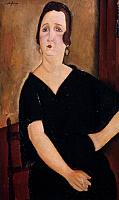 0027811 © Granger - Historical Picture ArchiveMODIGLIANI: WOMAN, 1918.   Woman with Cigarette (Madame Amedee). Oil on canvas by Amedeo Modigliani, 1918.