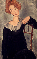 0030229 © Granger - Historical Picture ArchiveMODIGLIANI: WOMAN, 1917.   Woman with Red Hair. Oil on canvas by Amedeo Modigliani, 1917.