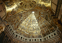 0047589 © Granger - Historical Picture ArchiveFLORENCE: BAPTISTRY, c1271.   Dome of the Baptistry in Florence. Mosaic, c1271.