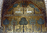 0047667 © Granger - Historical Picture ArchiveHUNTING SCENE.   Interior of the Palazzo of the Normans, Palermo. Mosaic, 13th century.