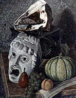 0050006 © Granger - Historical Picture ArchiveSEVERINI: STILL LIFE, 1930.   Gino Severini: Still Life with Mask. Oil on cardboard, 1930. EDITORIAL USE ONLY.