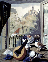 0059166 © Granger - Historical Picture ArchiveSEVERINI: WINDOW.   Window with Pigeons. Tempera on cardboard, 1930, by Gino Severini. EDITORIAL USE ONLY.