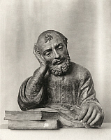 0123281 © Granger - Historical Picture ArchivePHILOSOPHER, 15th CENTURY.   A philosopher reading a book. Florentine sculpture, 15th century.