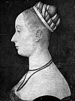 0123298 © Granger - Historical Picture ArchiveITALIAN WOMAN.   Portrait of a woman by a Ferrarese painter, 15th century.