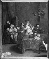 0124373 © Granger - Historical Picture ArchiveLONGHI: CONCERT.   A Venetian concert. Painting by Pietro Longhi, 18th century.
