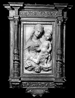 0162875 © Granger - Historical Picture ArchiveFEDERIGHI: VIRGIN & CHILD.   Relief of the Virgin and Child by Antonio Federighi, 15th century.