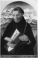 0162998 © Granger - Historical Picture ArchiveBELLINI: SAINT DOMINIC.   Painting by Giovanni Bellini, 16th century.
