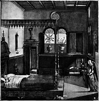 0163083 © Granger - Historical Picture ArchiveCARPACCIO: ST. URSULA.   Saint Ursula's Dream. Painting by Vittore Carpaccio, c1495.