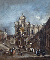 0163424 © Granger - Historical Picture ArchiveVENICE: CAMPO SAN ZANIPOLO.   View of the Campo San Zanipolo in Venice, Italy. Oil painting by Francesco Guardi, 1782.