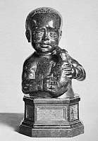 0163740 © Granger - Historical Picture ArchiveFIAMBERTI: BUST OF A CHILD.   Serpentine bust of a child by Tommaso Fiamberti, 16th century.