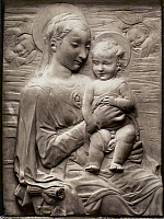 0163742 © Granger - Historical Picture ArchiveMADONNA AND CHILD.   Marble relief of the Madonna and Child, Italian, 16th century, possibly by Tommaso Fiamberti.