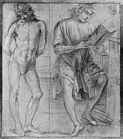 0164111 © Granger - Historical Picture ArchiveLIPPI: MALE STUDIES.   Two studies of male figures, by Filippino Lippi, 15th century.
