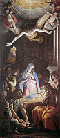 0165623 © Granger - Historical Picture ArchiveZUCCARO: ADORATION.   Adoration of the Shepherds. Oil on canvas by Federigo Zuccaro, 16th century.