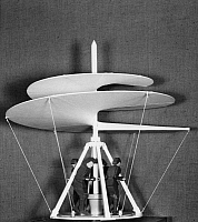 0173362 © Granger - Historical Picture ArchiveDA VINCI: HELICOPTER.   Model of a helical-screw helicopter after a drawing by Leonardo da Vinci, c1488.