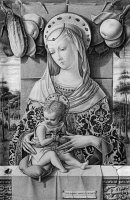 0326784 © Granger - Historical Picture ArchiveMADONNA AND CHILD, c1480.   'Madonna and Child.' Tempera on wood by Carlo Crivelli, c1480.