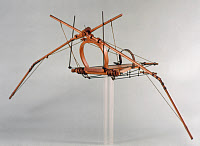0350568 © Granger - Historical Picture ArchiveLEONARDO: FLYING MACHINE.   Model of a flying machine made after a drawing by Leonardo Da Vinci, late 15th or early 16th century.