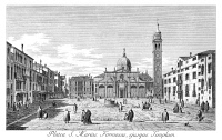 0600317 © Granger - Historical Picture ArchiveVENICE: MARIA FORMOSA.   Campo Sta. Maria Formosa in Venice, Italy, with Palazzo Malipiero-Trevisan in the background. Engraving, 1735, by Antonio Visentini after Canaletto.