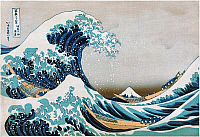 0119920 © Granger - Historical Picture ArchiveHOKUSAI: GREAT WAVE.   'The Great Wave off Kanagawa.' Color woodblock print by Hokusai Katsushika, c1830.