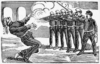 0044000 © Granger - Historical Picture ArchivePOSADA: FIRING SQUAD.   Execution by Firing Squad of Captain Clodomiro Cota. Type metal engraving, 1900-10, by José Guadalupe Posada.