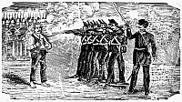 0044002 © Granger - Historical Picture ArchivePOSADA: FIRING SQUAD.   Type metal engraving, 1900-10, by José Guadalupe Posada.