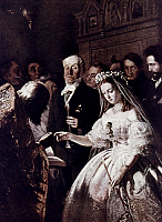 0024495 © Granger - Historical Picture ArchivePUKIREV: MARRIAGE, 1862.   The Unequal Marriage, by Vasili Pukirev. Oil, 1862.