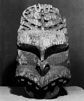 0172902 © Granger - Historical Picture ArchiveNEW ZEALAND: MAORI FIGURE.   Carved wooden figure of a legendary ancestor, to be used as a house gable by the Maori tribe in New Zealand, 20th century.