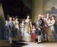 0049096 © Granger - Historical Picture ArchiveGOYA: CHARLES IV, 1800.   Charles IV of Spain, with his wife, Maria Luisa and their family. Oil on canvas by Francisco Goya, 1800.