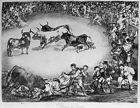 0163294 © Granger - Historical Picture ArchiveGOYA: BULLFIGHTING.   'Dibersion de Espagna (the Diversion of Spain).' Lithograph by Francisco Goya, early 19th century.