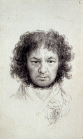 0163301 © Granger - Historical Picture ArchiveFRANCISCO GOYA (1746-1828).   Spanish painter, etcher, and lithographer. Self-portrait. Brush point and gray wash drawing, 1795-97.